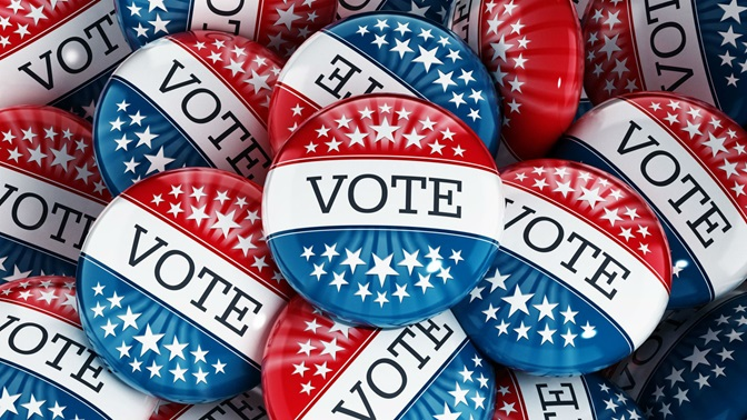 USA Vote Buttons