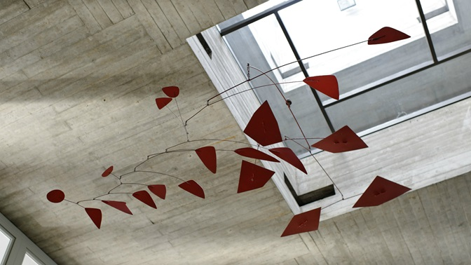 Alexander Calder's mobile made out of sheet steel, at the University of St.Gallen (HSG)